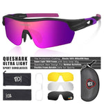 Load image into Gallery viewer, New Design Polarized Sport Sunglasses 4 HD Bikewest.com Matte Black Pink