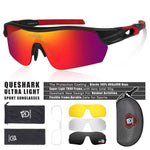 Load image into Gallery viewer, New Design Polarized Sport Sunglasses 4 HD Bikewest.com Matte Black Red