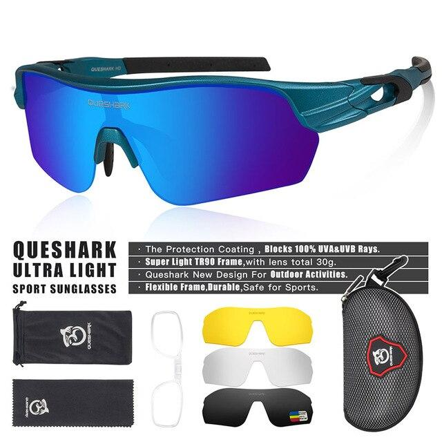 New Design Polarized Sport Sunglasses 4 HD Bikewest.com Matte Blue