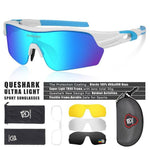 Load image into Gallery viewer, New Design Polarized Sport Sunglasses 4 HD Bikewest.com White BLue