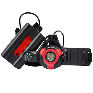 Night Running Flashlight Bikewest.com Black Red