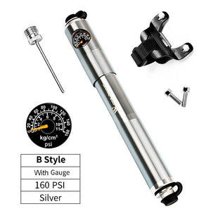 Portable Bike Pump Gauge High Pressure Hand Pump Bikewest.com B Style with Gauge China