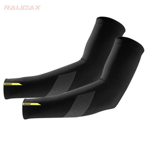 Pro Team MAVIC Cosmic Leg Warmers Black UV Protection Cycling Arm Bikewest.com 2 M