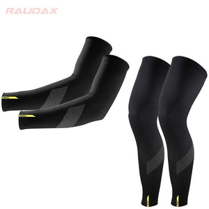 Pro Team MAVIC Cosmic Leg Warmers Black UV Protection Cycling Arm Bikewest.com 4 XL