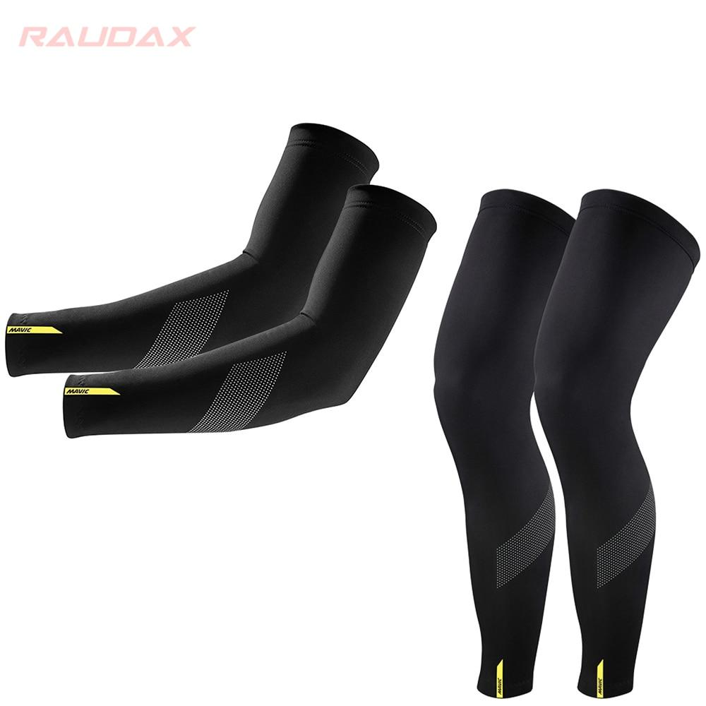 Pro Team MAVIC Cosmic Leg Warmers Black UV Protection Cycling Arm Bikewest.com