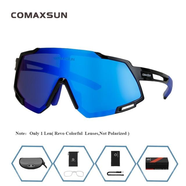 Professional Polarized 5 Len Cycling Glasses Bikewest.com Style 1 Black Blue 5 Lens