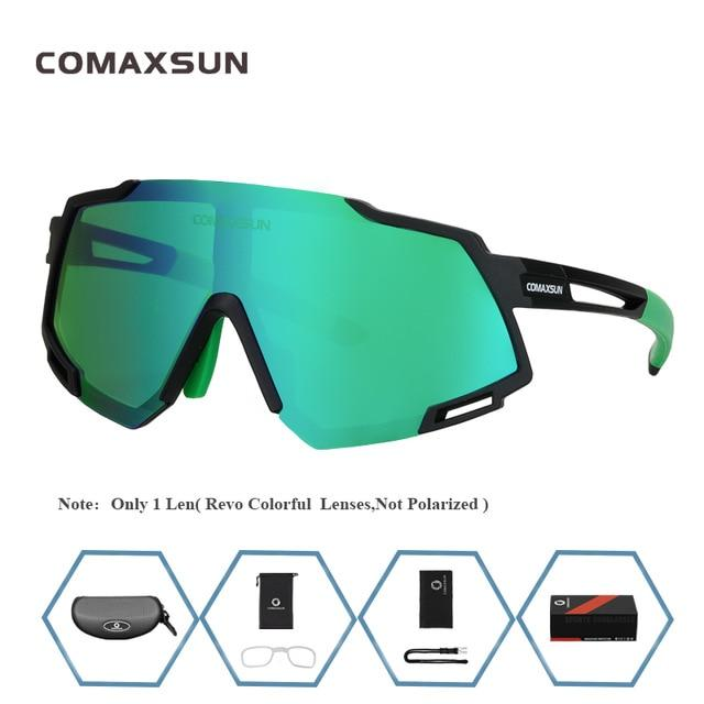 Professional Polarized 5 Len Cycling Glasses Bikewest.com Style 1 Black Green 5 Lens