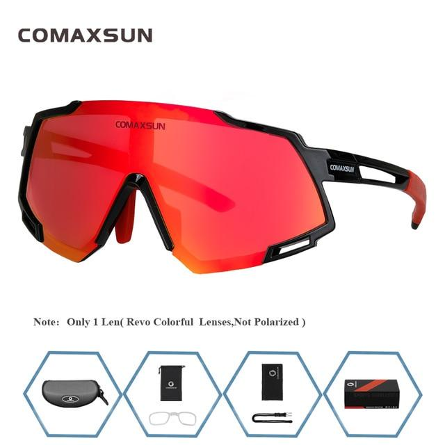 Professional Polarized 5 Len Cycling Glasses Bikewest.com Style 1 Black Red 5 Lens