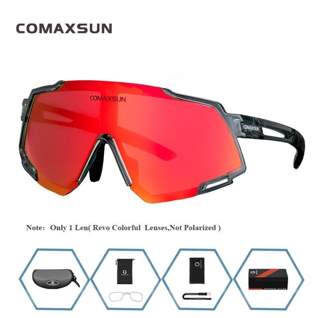 Professional Polarized 5 Len Cycling Glasses Bikewest.com Style 1 Gray Black 5 Lens