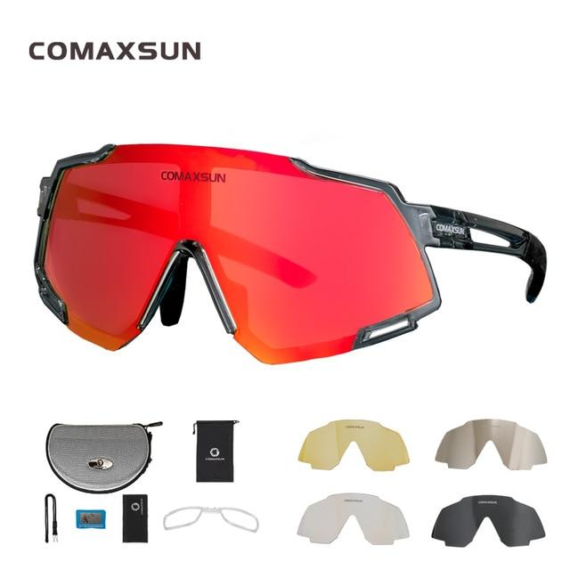 Professional Polarized 5 Len Cycling Glasses Bikewest.com Style 2 Gray Black 5 Lens