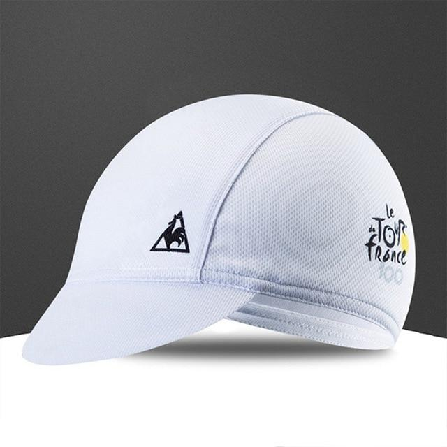 Quick-Drying Polyester Cycling Hat Bicycle Cap Bikewest.com White