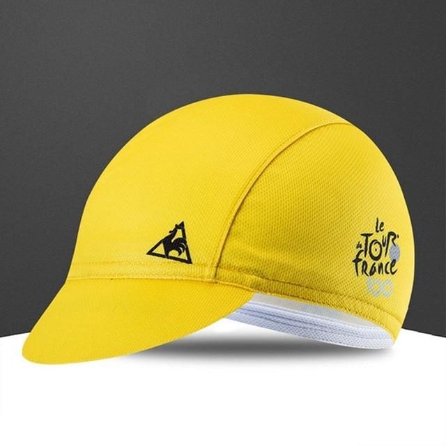 Quick-Drying Polyester Cycling Hat Bicycle Cap Bikewest.com YELLOW