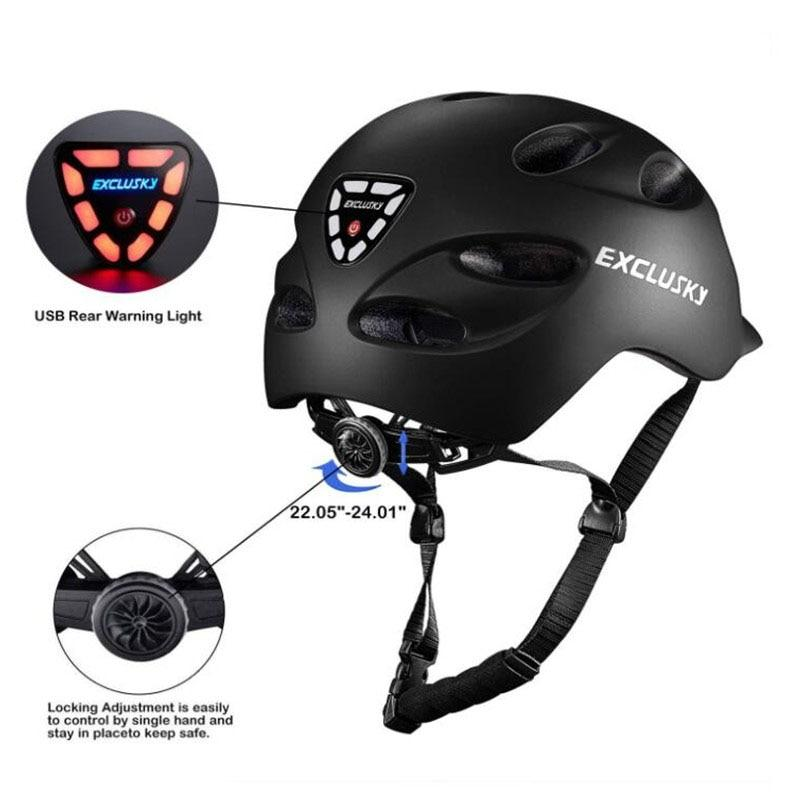 Red Bike Bicycle Outdoor Safety Sport Cap With Led Light USB Bikewest.com