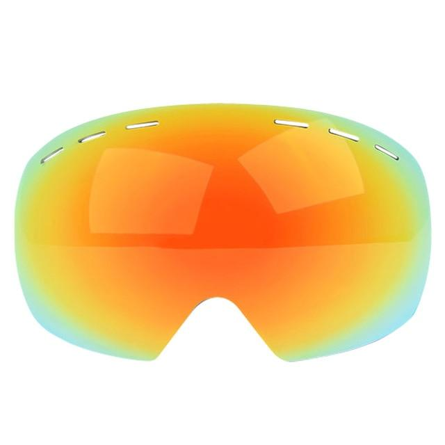 Ski Goggles UV400 Protection Snowboard Eyewear Anti-fog Big Bikewest.com only red lens 03 China