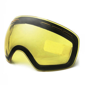 Ski Goggles UV400 Protection Snowboard Eyewear Anti-fog Big Bikewest.com only yellow lens 05 China