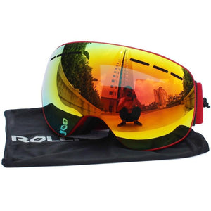 Ski Goggles with Magnetic Double Layers Lens polarized Bikewest.com