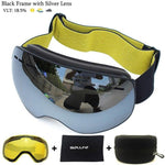 Load image into Gallery viewer, Ski Goggles with Magnetic Double Layers Lens polarized Bikewest.com Black Silver
