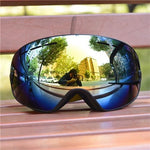 Load image into Gallery viewer, Ski Snowboard Goggles. UV400 Big Spherical Mask Glasses Bikewest.com BLACK Gold