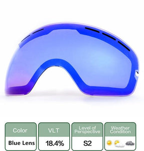 Ski Snowboard Goggles. UV400 Big Spherical Mask Glasses Bikewest.com Double anti-fog lens 1