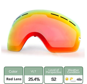 Ski Snowboard Goggles. UV400 Big Spherical Mask Glasses Bikewest.com Double anti-fog lens 2