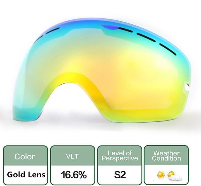 Ski Snowboard Goggles. UV400 Big Spherical Mask Glasses Bikewest.com Double anti-fog lens
