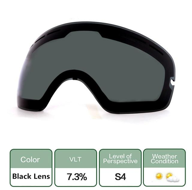 Ski Snowboard Goggles. UV400 Big Spherical Mask Glasses Bikewest.com Double anti-fog lens 3