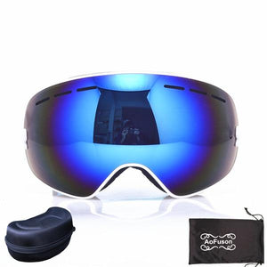 Ski Snowboard Goggles. UV400 Big Spherical Mask Glasses Bikewest.com NO.10