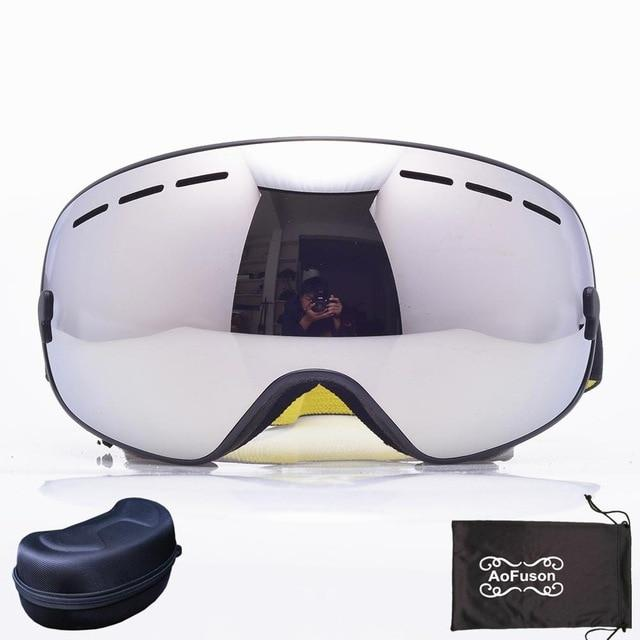 Ski Snowboard Goggles. UV400 Big Spherical Mask Glasses Bikewest.com NO.11