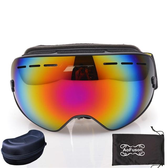 Ski Snowboard Goggles. UV400 Big Spherical Mask Glasses Bikewest.com NO.13