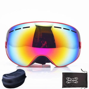 Ski Snowboard Goggles. UV400 Big Spherical Mask Glasses Bikewest.com NO.7