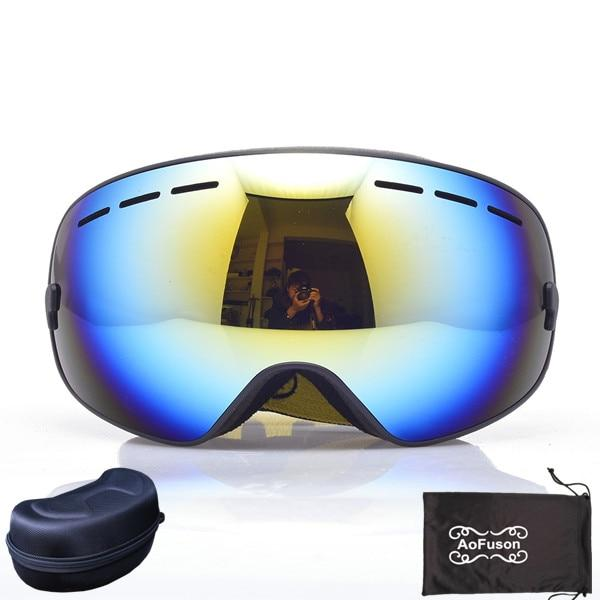 Ski Snowboard Goggles. UV400 Big Spherical Mask Glasses Bikewest.com NO.8