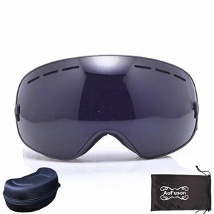 Ski Snowboard Goggles. UV400 Big Spherical Mask Glasses Bikewest.com NO.9