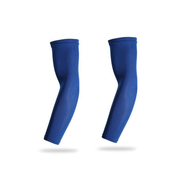 Sports Arm Compression Sleeve Basketball Cycling Arm Bikewest.com 2 Pieces Blue XXL