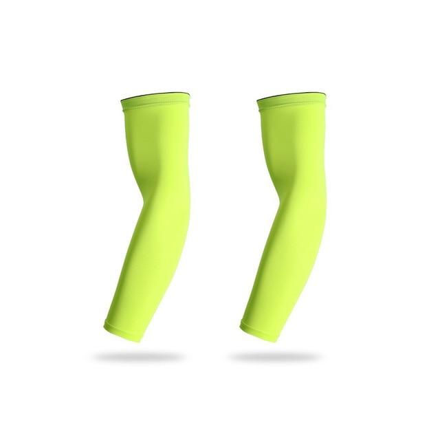 Sports Arm Compression Sleeve Basketball Cycling Arm Bikewest.com 2 Pieces Green XXL