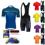 Load image into Gallery viewer, STRAVA Pro Team summer cycling Jersey set Bikewest.com