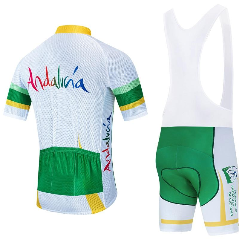 TEAM andalucia cycling jersey bike Pants set Bikewest.com