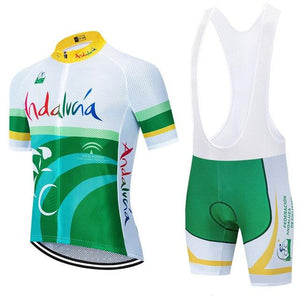 TEAM andalucia cycling jersey bike Pants set Bikewest.com Multi 3XL