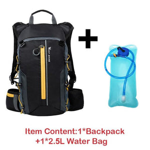 Travel Backpack Bikewest.com 10L Yellow-Water bag