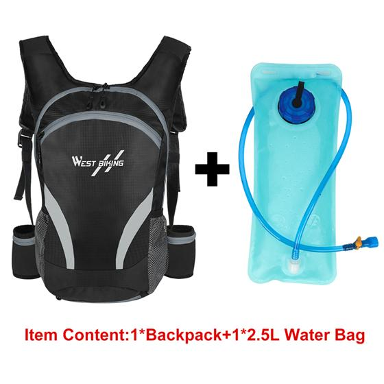 Travel Backpack Bikewest.com 15L Gray-Water bag