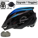 Load image into Gallery viewer, Ultralight Bicycle Helmet In-mold MTB Bikewest.com Blue Black 1 Lens S (52-55cm)