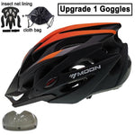 Load image into Gallery viewer, Ultralight Bicycle Helmet In-mold MTB Bikewest.com Orange Black 1 Lens XL (61-64cm)
