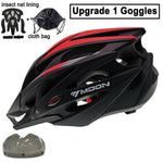 Load image into Gallery viewer, Ultralight Bicycle Helmet In-mold MTB Bikewest.com Red Black 1 Lens S (52-55cm)