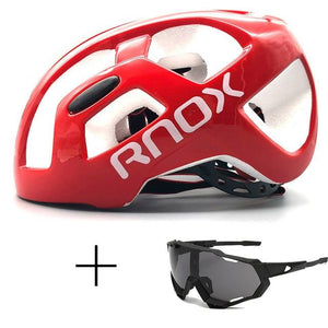 Ultralight Cycling Helmet Rainproof MTB Helmet Bikewest.com Helmet and glasses