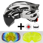 Load image into Gallery viewer, Ultralight Cycling Helmet With Removable Visor Goggles Bikewest.com Black-white 2 Lens