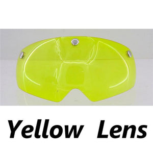 Ultralight Cycling Helmet With Removable Visor Goggles Bikewest.com Yellow Lens