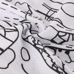 Load image into Gallery viewer, Unisex White Cartoon Cat Cycling Jersey Bikewest.com