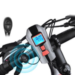Load image into Gallery viewer, Waterproof Bicycle Bell With Light USB Charging Bike Front Light Flashlight Handlebar Cycling Head Light w/ Horn Speed Meter LCD Bikewest.com