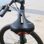 Load image into Gallery viewer, Waterproof Bike Saddle with Tail Light Bikewest.com