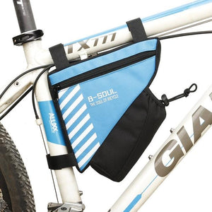 Waterproof Bike Triangle Bag For Bicycle Bikewest.com Blue