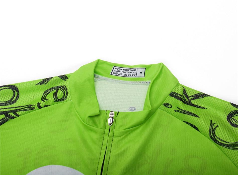 Weimostar Top Green Cycling Jersey Funny Men's Bikewest.com